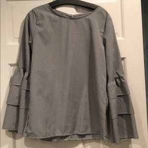 NWT Nasty Gal Gingham Blouse